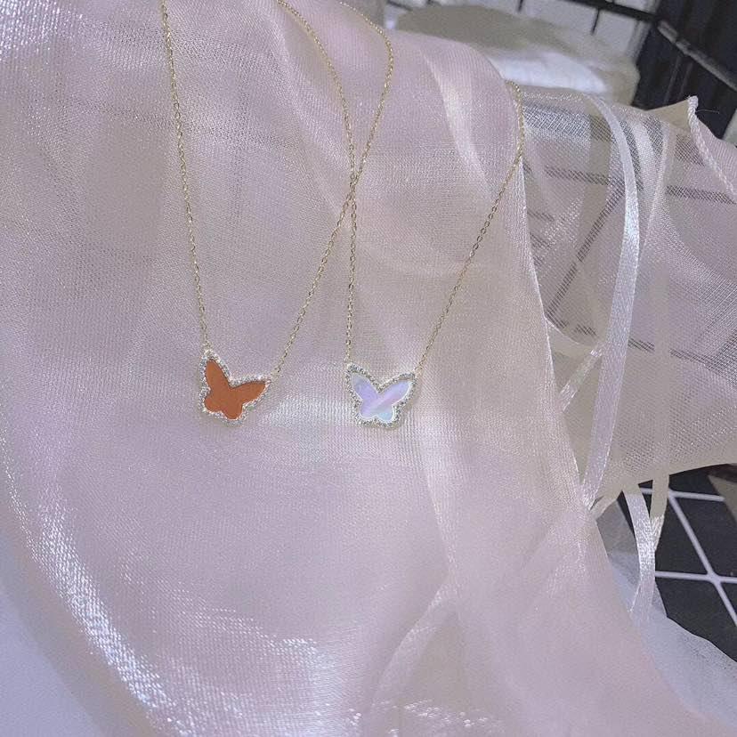 蝴蝶贝壳项链