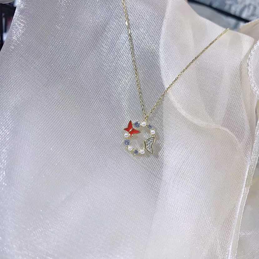 花环蝴蝶项链