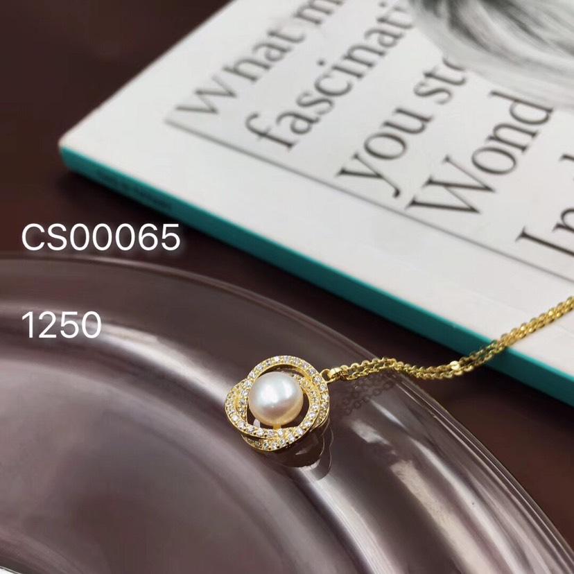 奢华珍珠镶钻项链