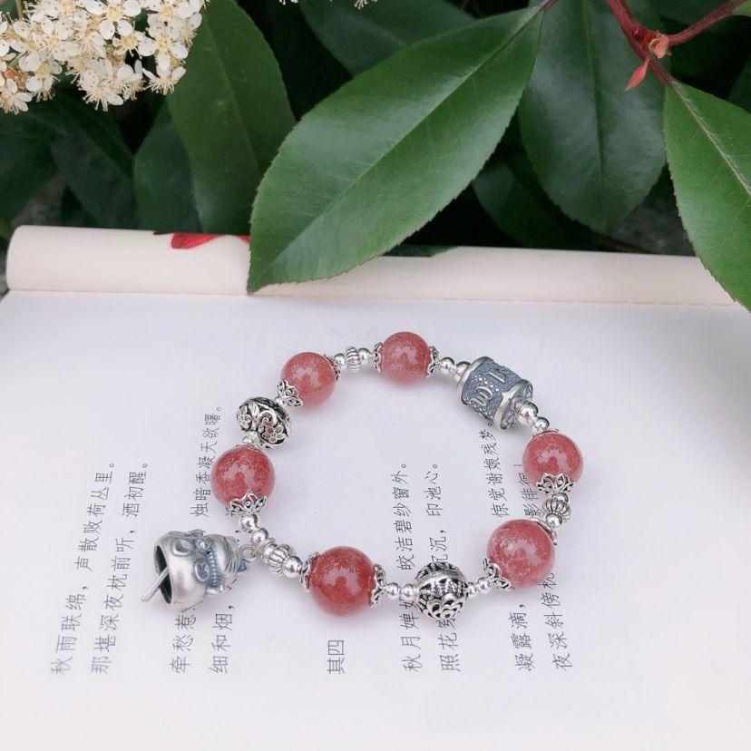 12mm草莓晶手链